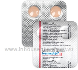 Ivermectol (Ivermectin 6mg) 2 Tablets/Pack