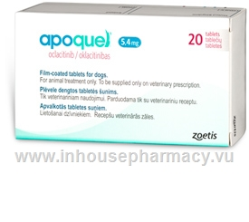 Apoquel (Oclacitinib 5.4mg) 20 Tablets/Pack