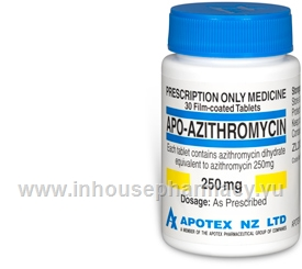 APO-Azithromycin (Azithromycin 250mg) 30 Tablets/Pack