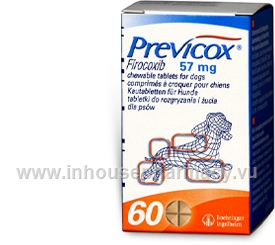 Previcox (Firocoxib 57mg) 60 Tablets/Pack