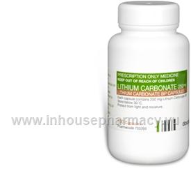 Lithium Carbonate 250mg 100 Capsules/Pack (Lithium Carbonate)