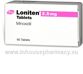 Loniten (Minoxidil 2.5mg) 60 Tablets/Pack