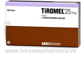 Tiromel (Liothyronine 25mcg) Tablets (Turkish)