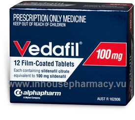 Vedafil (Sildenafil Citrate 100mg) 12 Tablets/Pack