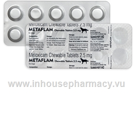 Metaflam (Meloxicam 2.5mg) Chewable 10 Tablets/Strip