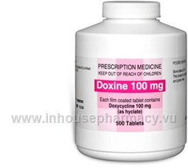 Doxine (Doxycycline hyclate 100mg) 500 Film Coated Tablets/Pack
