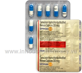 Urimax (Tamsulosin 0.2mg) 15 Capsules/Strip