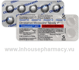 Olmezest 20mg 10 Tablets/Strip