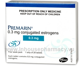 Premarin 0.3mg 28 Tablets/Pack
