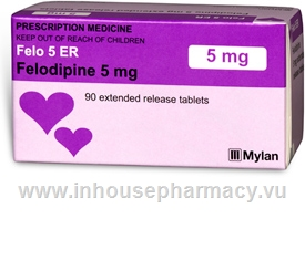 Felo 5 ER (Felodipine 5mg) 90 Tablets/Pack