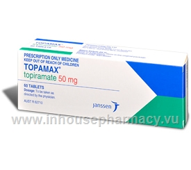 Topamax 50mg 60 Tablets/Pack