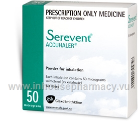 Serevent Accuhaler 50mcg 60 Doses/Pack