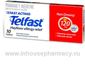 Telfast 120mg 10 Tablets/Pack