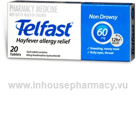 Telfast 60mg  20 Tablets/Pack