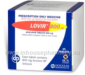 Lovir (Aciclovir) 800mg 35 Tablets/Pack