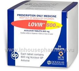 Lovir (Aciclovir) 800mg 35 Tablets/Pack (Aciclovir)