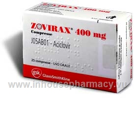 Zovirax Tablets 400mg 25 Tablets/Pack (Italy)