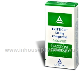 Trittico (Trazodone 50mg) 30 Tablets/Pack (ITL)