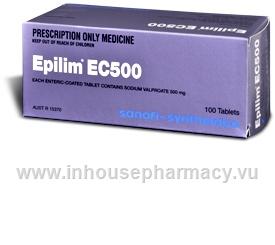 Epilim Ec 500mg 100 Tablets Pack Sodium Valproate