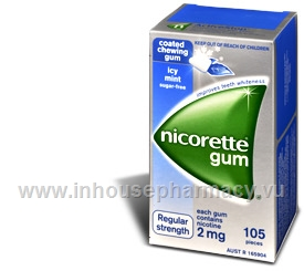 Nicorette Gum 2mg Icy Mint 105 Pieces