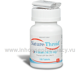 Nature-Throid 0.25 Grain - 100 Tabs/Bottle