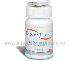 Nature-Throid 3 Grain - 100 Tabs/Bottle