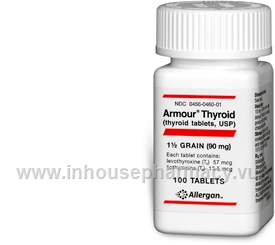 Armour Thyroid (90mg) 100 Tablets/Pack