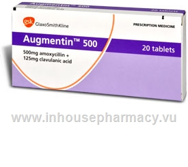 Augmentin 500mg 20 Tablets/Pack