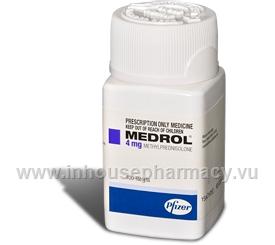 Medrol 4mg (Methylprednisolone) 100 Tablets/Pack