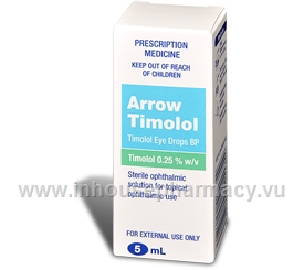 Arrow-Timolol 0.25% 5ml/Pack