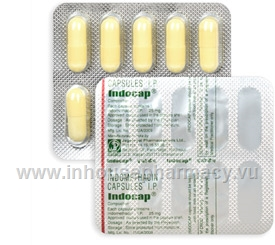 Indocap (Indomethacin  25mg) 10 Capsules/Strip