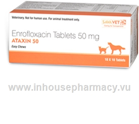 Ataxin (Enrofloxacin 50mg) 100 Tablets/Pack