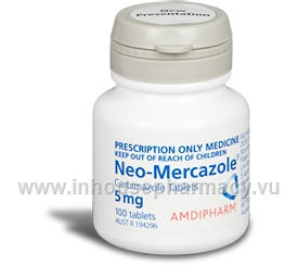 Neo-Mercazole (Carbimazole 5mg) 100 Tablets/Pack