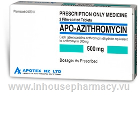 APO-Arithromycin 500mg 2 Tablets/Pack